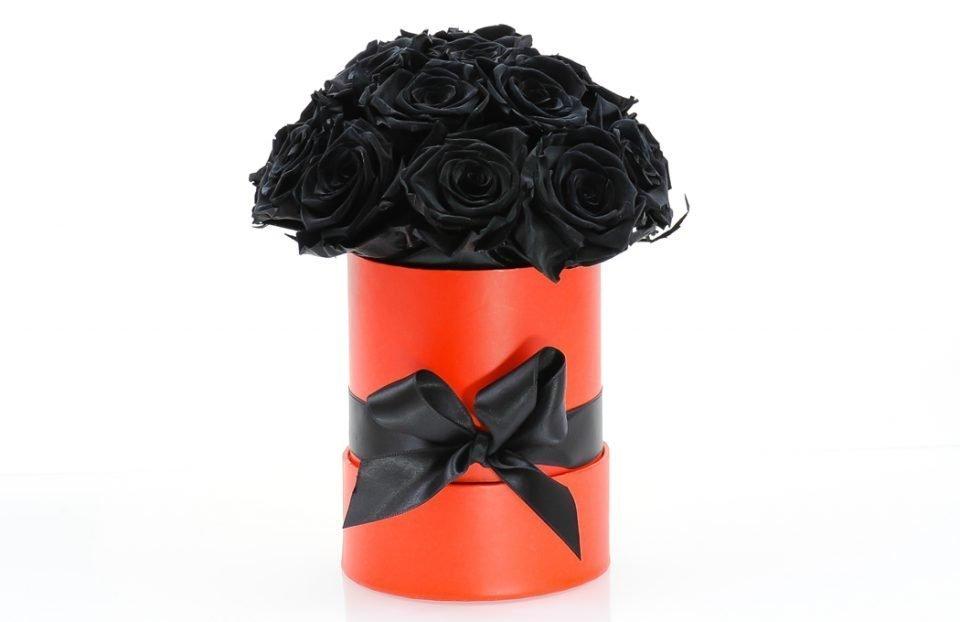 Black-Forever-Roses-Hat-Box