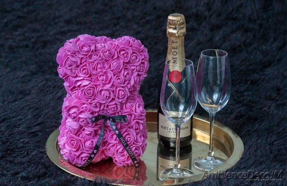 rose bear pink