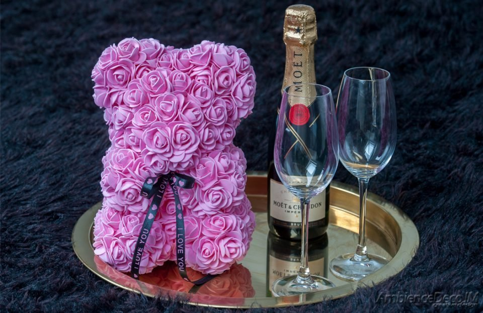 Rose bear light pink