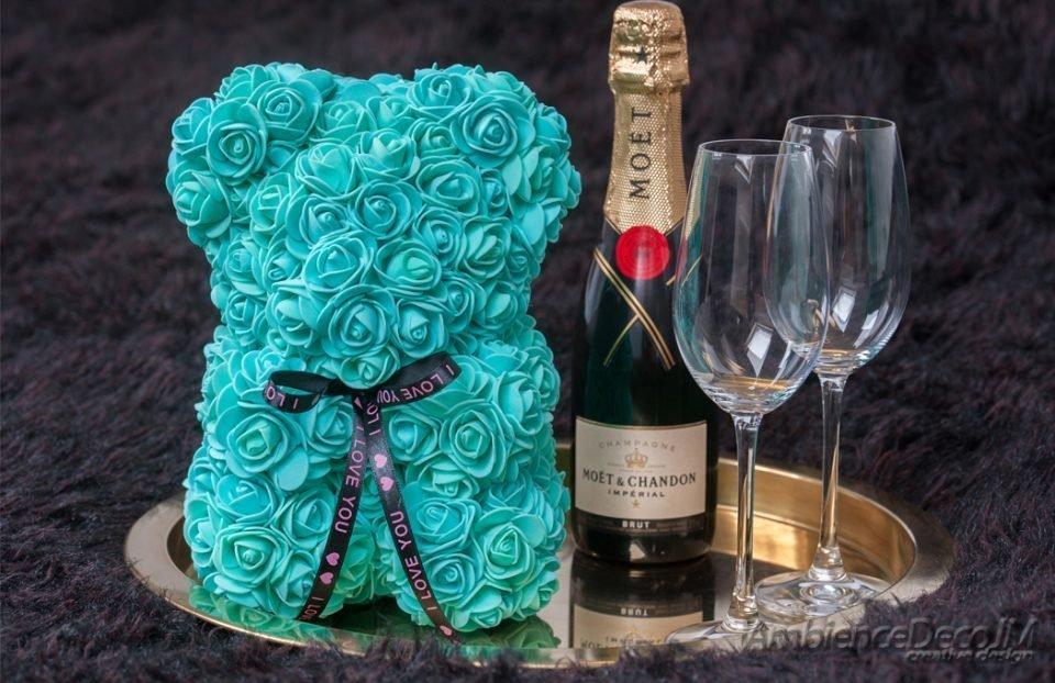 Rose Bear Turquoise