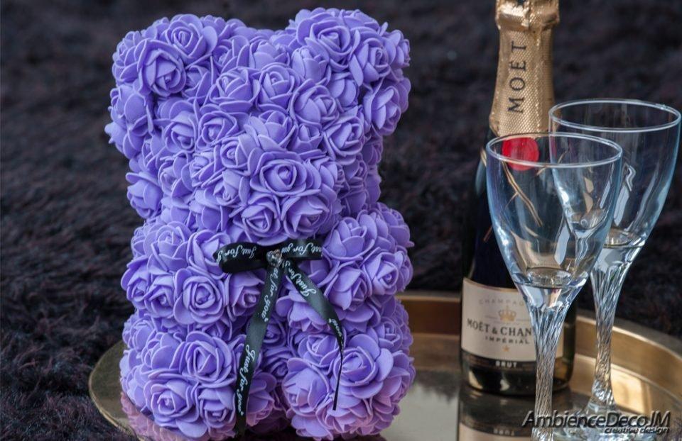 Rose Teddy Bear Purple
