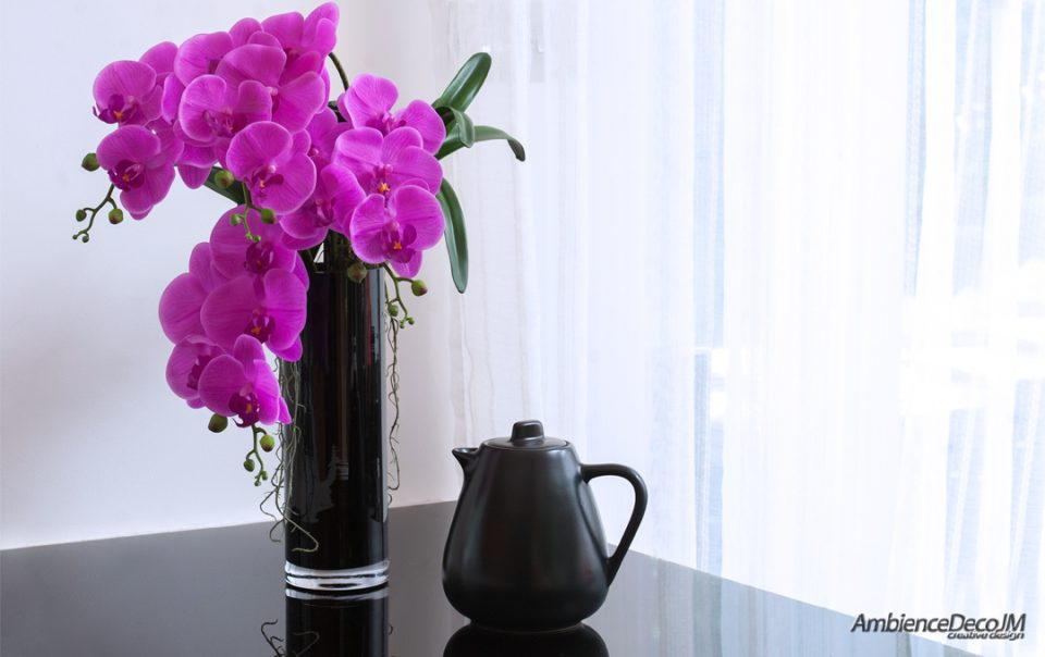 Luxury real touch cerise pink orchids